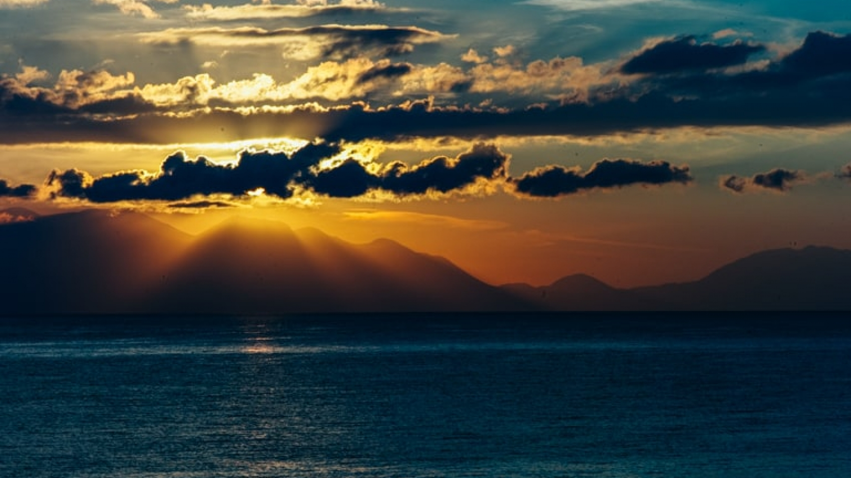 Sunrise Above Taigetos with Clouds - Koroni Sky Story