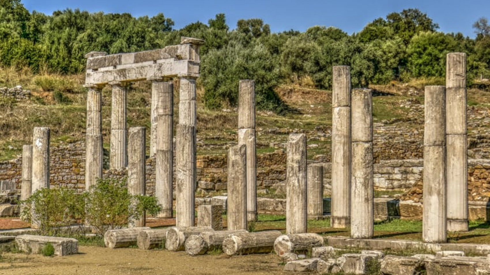 Temple Ruin in Ancient Messene - Archaeological Site