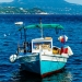 Small Fisherboat in the Harbour - Meditterranean Sea Story