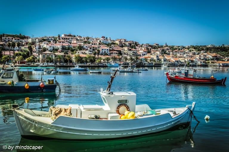 Fisherboats with Koroni Skyline – Sea Stroy