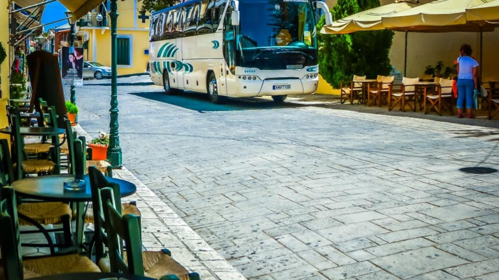 Modern KTEL Bus in Koroni - Travel
