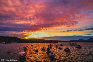 Cloudy After Sunset Sky at Koron Harbour