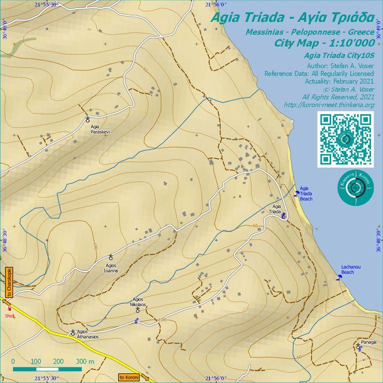 Agia Triada City Map 1:10'000 Overview