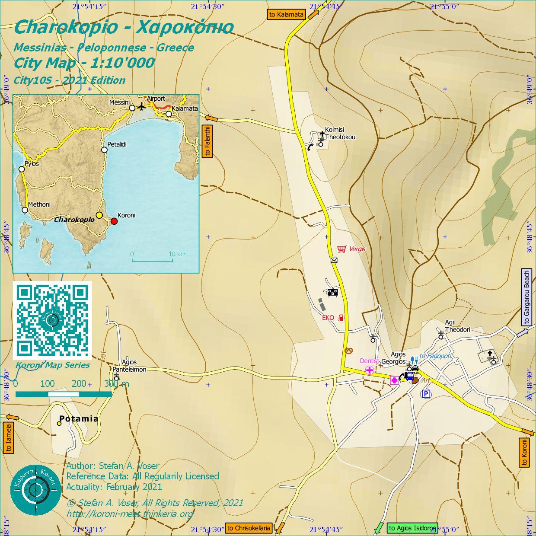 Charokopio City Map 1:10'000 Overview