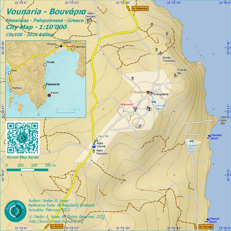 Vounaria City Map 1:10'000 Overview