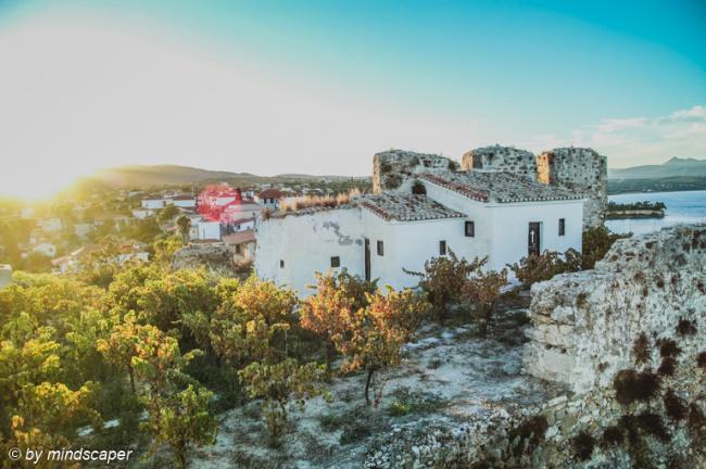 Houses of Monastery at Sunset - Koroni