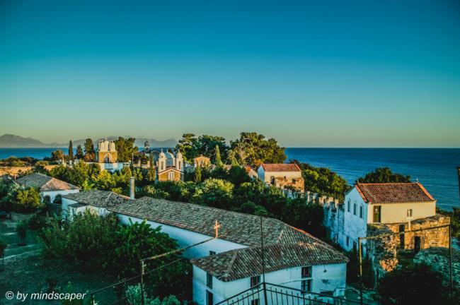 Panoramic View of Timiou Prodromou Monastery