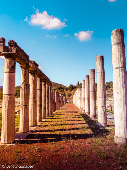 Ancient Messene Columns of Gymnasium - Archaeological Site