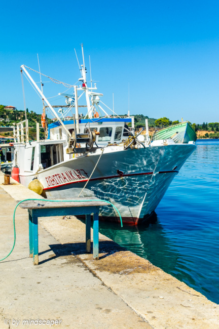 Fisherboat in Koroni Harbour - Sea Story