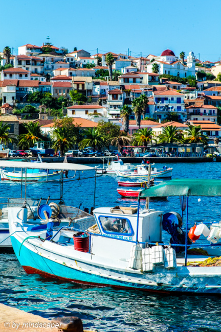 Fisherboats in the Harbour - Koroni Sea Story