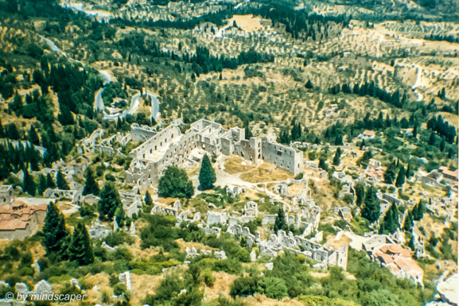 Mystras from Above - Archaeological Site