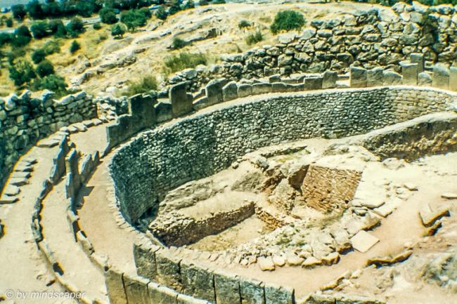 Mykene Grave Circle -Archaeological Site