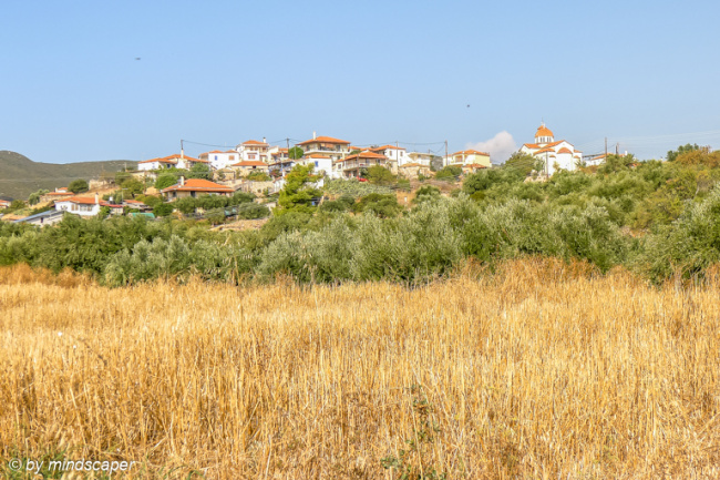 Aproaching Vasilitsi - First View From Koroni Road