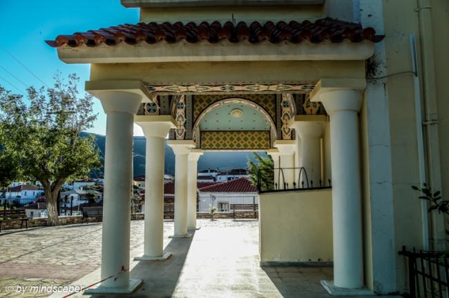 Side View of Entrance of Agios Vasilios - Vasllitsi