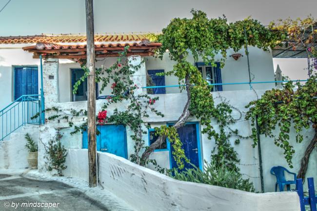 House With Blue Doors - Vasilitsi