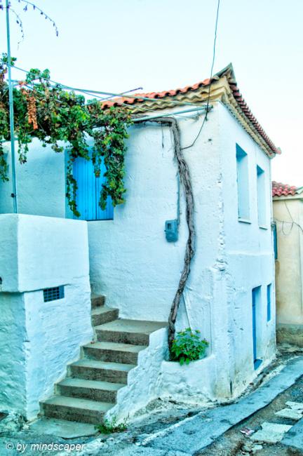 House Entrance with Blue WIndow - Vasilitsi