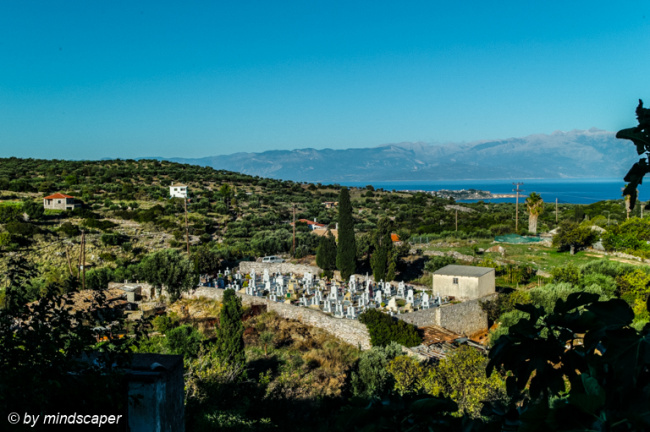 Vasilitsi Cemetery With Panarama View To Koroni