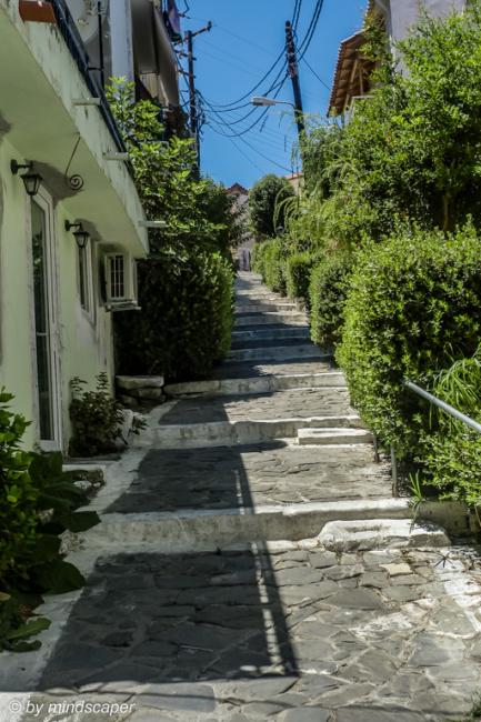 Steps at Karapavlou Alley in Koroni