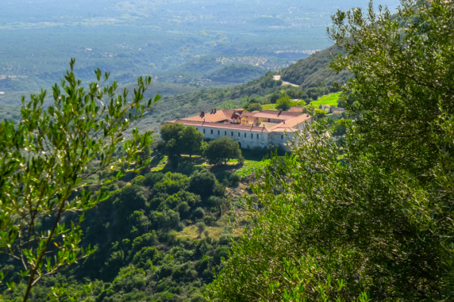 Voulkanos Monastery From Above