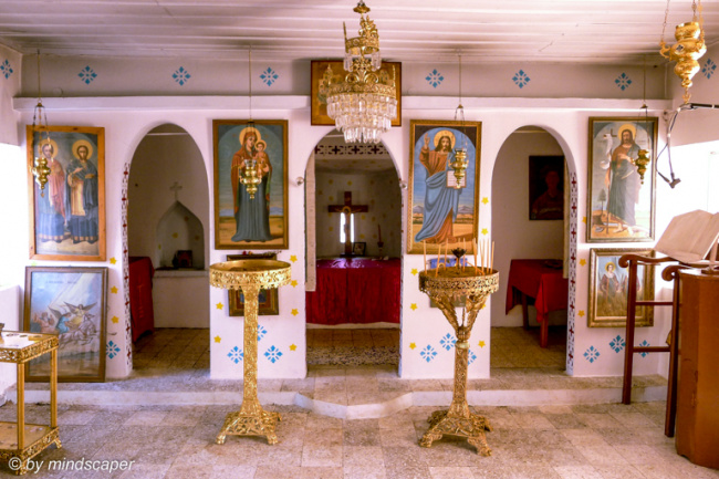 Inside Agii Anargiri Church, Tsapi