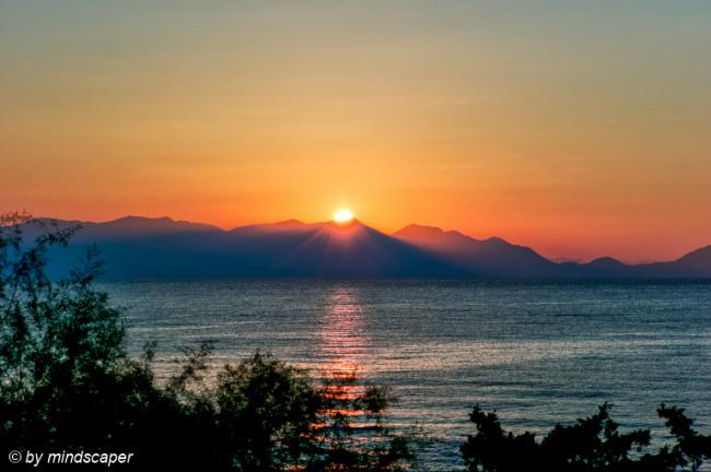 Sunrise over Mani
