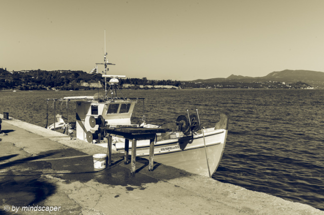 Fisherboat in Koroni Harbour
