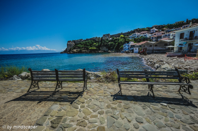 Benches with Kastro View