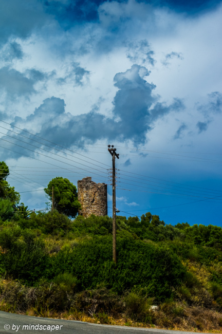 Storm Approaching at Old Tower - Memi Vigla - Mediterranean Weat