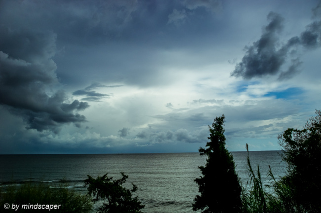 Stormy Weather above Gulf of Messinia