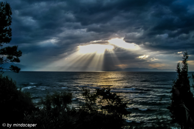 Stormy Sunrays on the Mediterranean