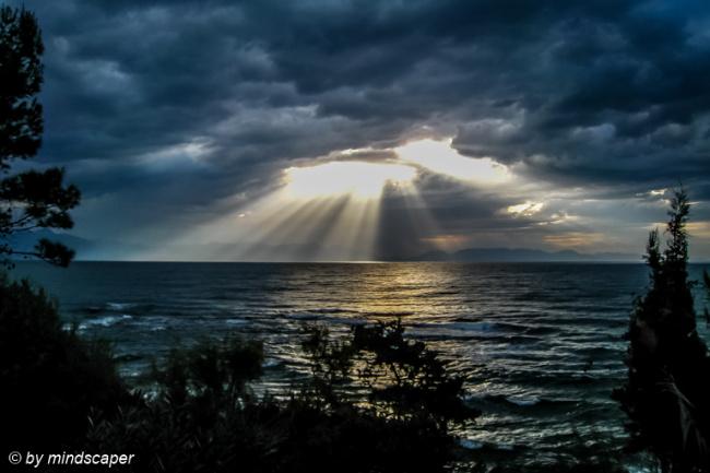 Stormy Sunrays on the Mediterranean