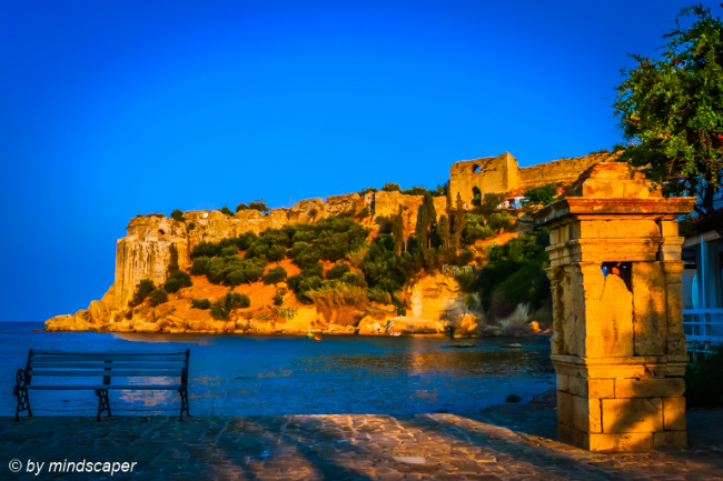 Old Observatory & Koroni Kastro in Late Afternoon Light
