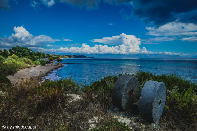 Koroni South Coast with Millstones