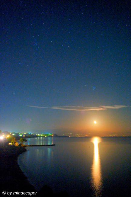 Stary Fullmoon Night at Limanaki - Koroni by Night