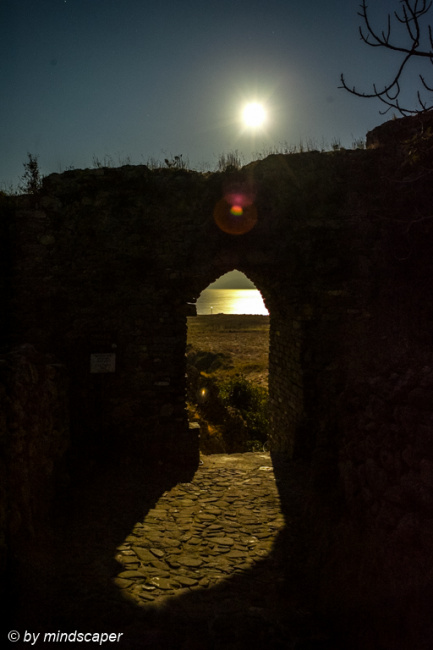 Fullmoon Above Kastro East Gate