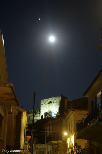 Fullmoon Above Kastro Main Gate