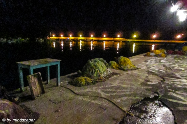 Harbour Still Life - Koroni by Night