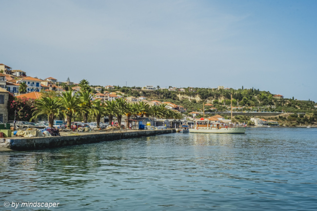 Tourist Cruiser in Koroni Harbour