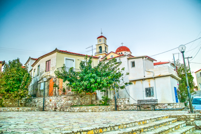 Vasilitsi Square at Entrance with Agios Vasilios