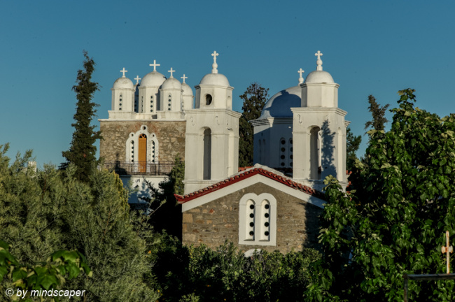 Crossed Roof Towers at Monastery Ioany Prodromou - Koroni